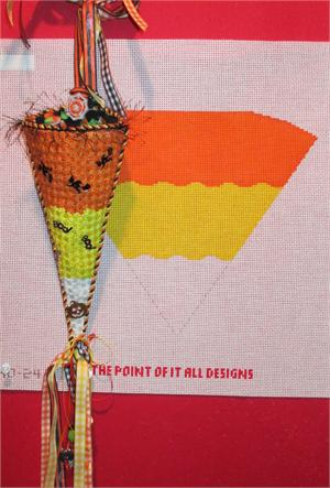 click here to view larger image of Candy Corn Cornucopia (hand painted canvases)