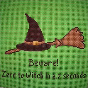 click here to view larger image of Zero To Witch (hand painted canvases)