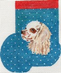 click here to view larger image of Blenheim Cocker Spaniel Mini Sock (hand painted canvases)