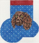 click here to view larger image of Boykin Spaniel Mini Sock (hand painted canvases)