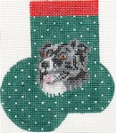 click here to view larger image of Border Collie Mini Sock (hand painted canvases)