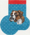 click here to view larger image of Boxer Mini Sock (hand painted canvases)