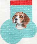 click here to view larger image of Beagle Mini Sock (hand painted canvases)