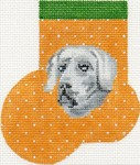 click here to view larger image of Weimaraner Mini Sock (hand painted canvases)