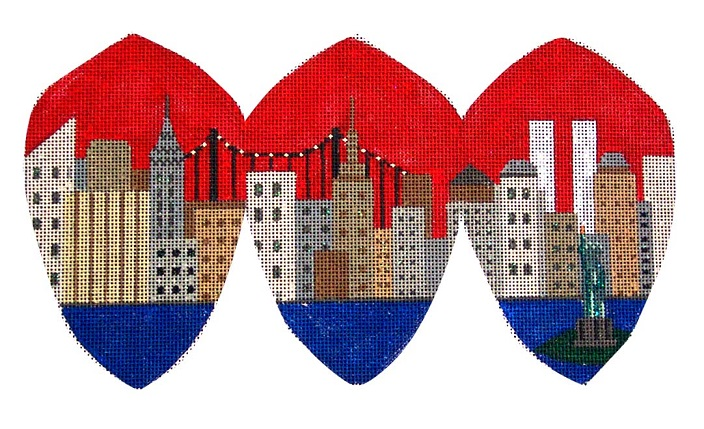 click here to view larger image of New York - The Big Apple (hand painted canvases)