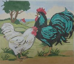 click here to view larger image of Rooster Landscape (hand painted canvases)