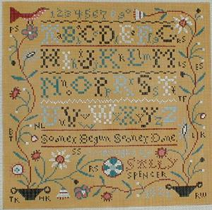 click here to view larger image of Sally Spencer Sampler (hand painted canvases)