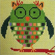 click here to view larger image of Green Owl (hand painted canvases)