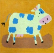 click here to view larger image of Calico Cow (hand painted canvases)