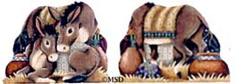 click here to view larger image of Burros (hand painted canvases)