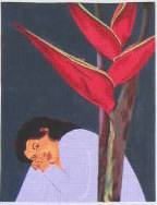 click here to view larger image of Heleconia (hand painted canvases)