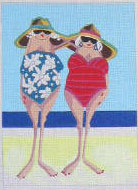 click here to view larger image of Beach Mamas 2 (hand painted canvases)