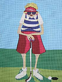 click here to view larger image of Golf Mama 1 (hand painted canvases)