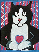 click here to view larger image of Heart In Paw (hand painted canvases)