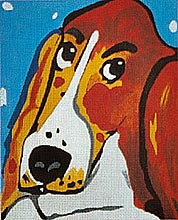 click here to view larger image of Tallulah (hand painted canvases)