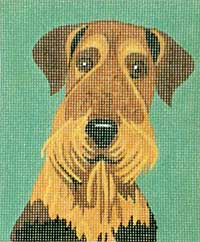 click here to view larger image of Blake - Airedale (hand painted canvases)