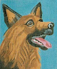 click here to view larger image of Shep - German Shepherd (hand painted canvases)