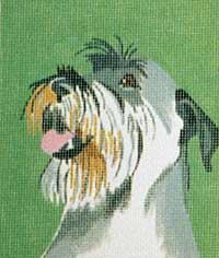 click here to view larger image of Charlie - Schnauzer (hand painted canvases)