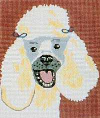 click here to view larger image of Sammy - Poodle (hand painted canvases)