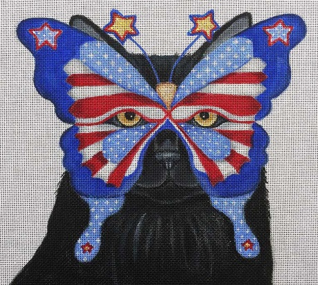 click here to view larger image of Americana - Costume Cats (hand painted canvases)