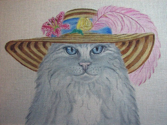 click here to view larger image of Easter Gala Cat - Costume Cats (hand painted canvases)