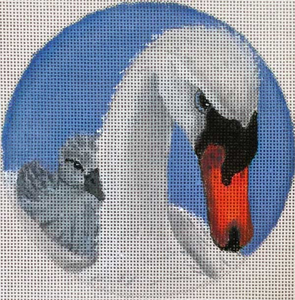click here to view larger image of Swans Round (hand painted canvases)