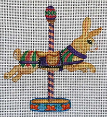 click here to view larger image of Carousel Bunny (hand painted canvases)