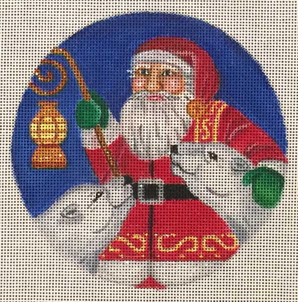 click here to view larger image of Polar Christmas Ornament (hand painted canvases)