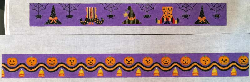 Halloween Cake Bands hand painted canvases