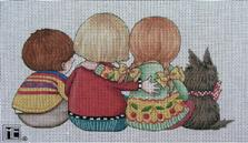 click here to view larger image of Watching Together - Best Friends (hand painted canvases)