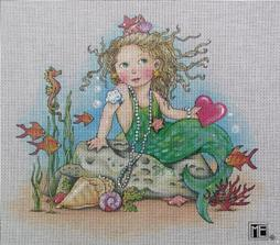 click here to view larger image of Heart Mermaid (hand painted canvases)