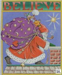 click here to view larger image of Belive Santa (with background) (hand painted canvases)