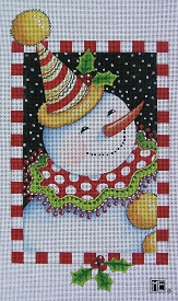click here to view larger image of Clown Snowman (hand painted canvases)