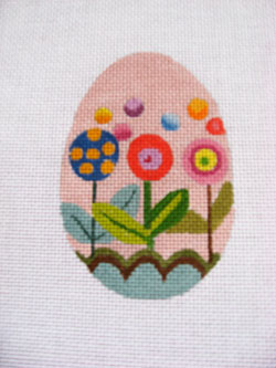 click here to view larger image of Floral Pops Egg (hand painted canvases)