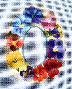 click here to view larger image of Pansies Sugar Egg (hand painted canvases)