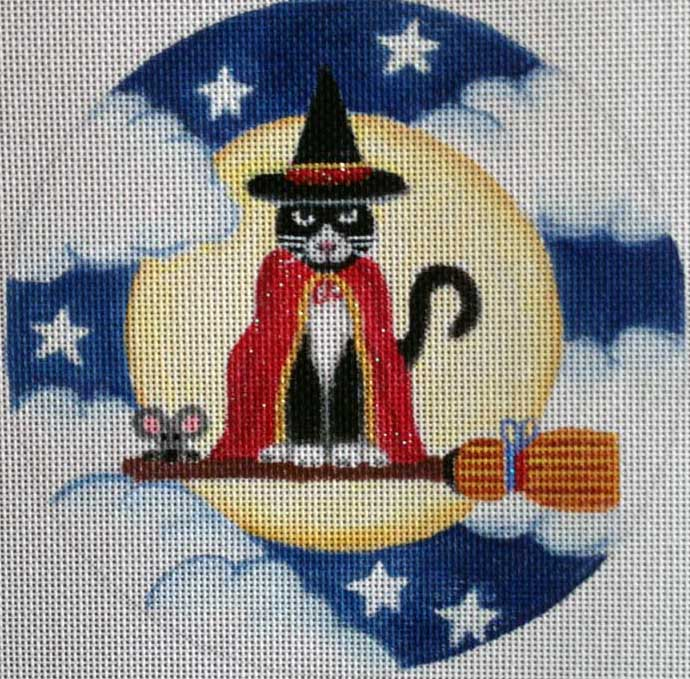 click here to view larger image of Broomstick Cat (hand painted canvases)