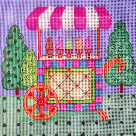 click here to view larger image of Ice Cream Cart (hand painted canvases)