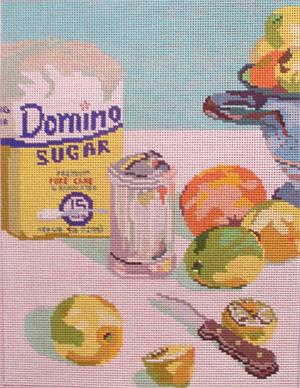 click here to view larger image of Sugar and Lemons (hand painted canvases)