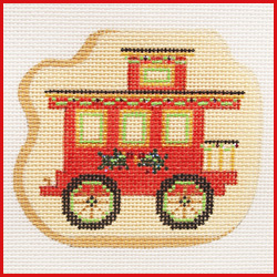 click here to view larger image of Cookie Caboose Of Zoo Train (hand painted canvases)