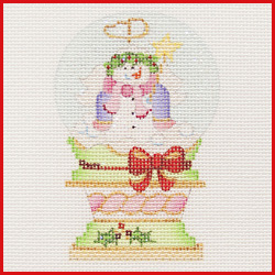 click here to view larger image of Snow Angel Snowglobe Ornament (hand painted canvases)