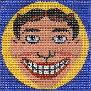 click here to view larger image of Funny Face - 18ct (hand painted canvases)