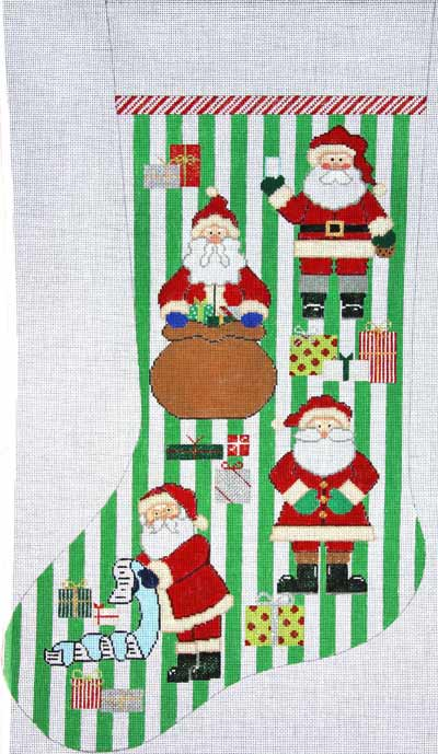 Santa And Presents Stocking - click here for more details