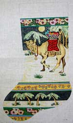 click here to view larger image of Camel With Blanket In Desert Stocking (hand painted canvases)