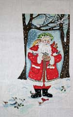 click here to view larger image of Forest Santa With Birds Stocking (hand painted canvases)