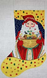 click here to view larger image of Noahs Ark Santa Stocking (hand painted canvases)