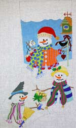click here to view larger image of Snowmen and Friends Stocking (hand painted canvases)