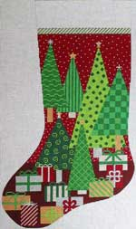 click here to view larger image of Oh Christmas Tree Stocking (hand painted canvases)