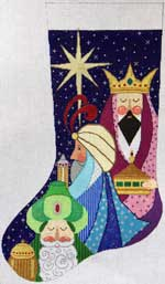 click here to view larger image of Three Wise Men Stocking (hand painted canvases)