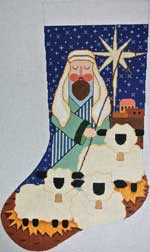 click here to view larger image of Shepherd With Sheep Stocking (hand painted canvases)