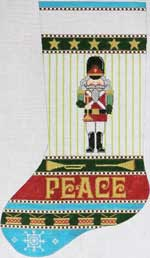click here to view larger image of Peace Keeper - Nutcracker Stocking (hand painted canvases)